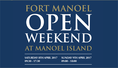 Manoel Island Open Weekend (Sat 8th Apr - Sun 9th Apr)