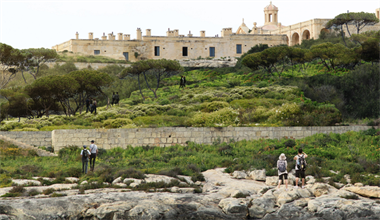 Creating a green public open space at Manoel Island