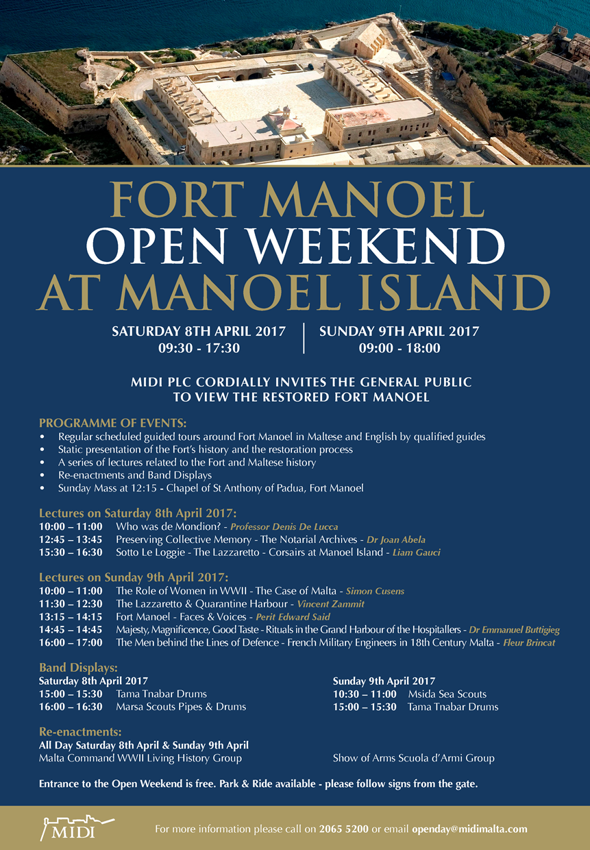 Manoel Island Open Weekend