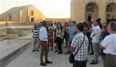 Tour to commemorate the laying of the first stone at Fort Manoel