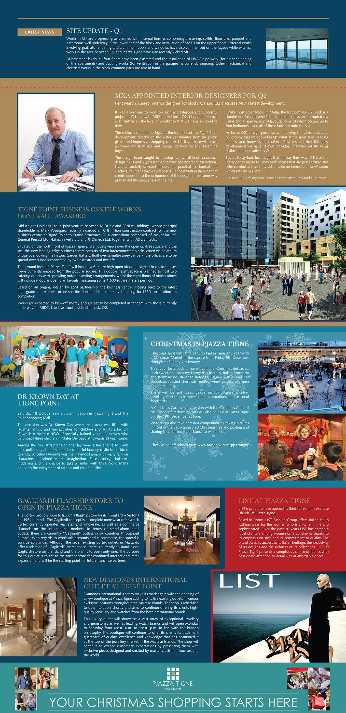 Tigné Point Newsletter - Winter Edition
