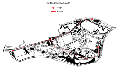 Shuttle service for bathers at Manoel Island