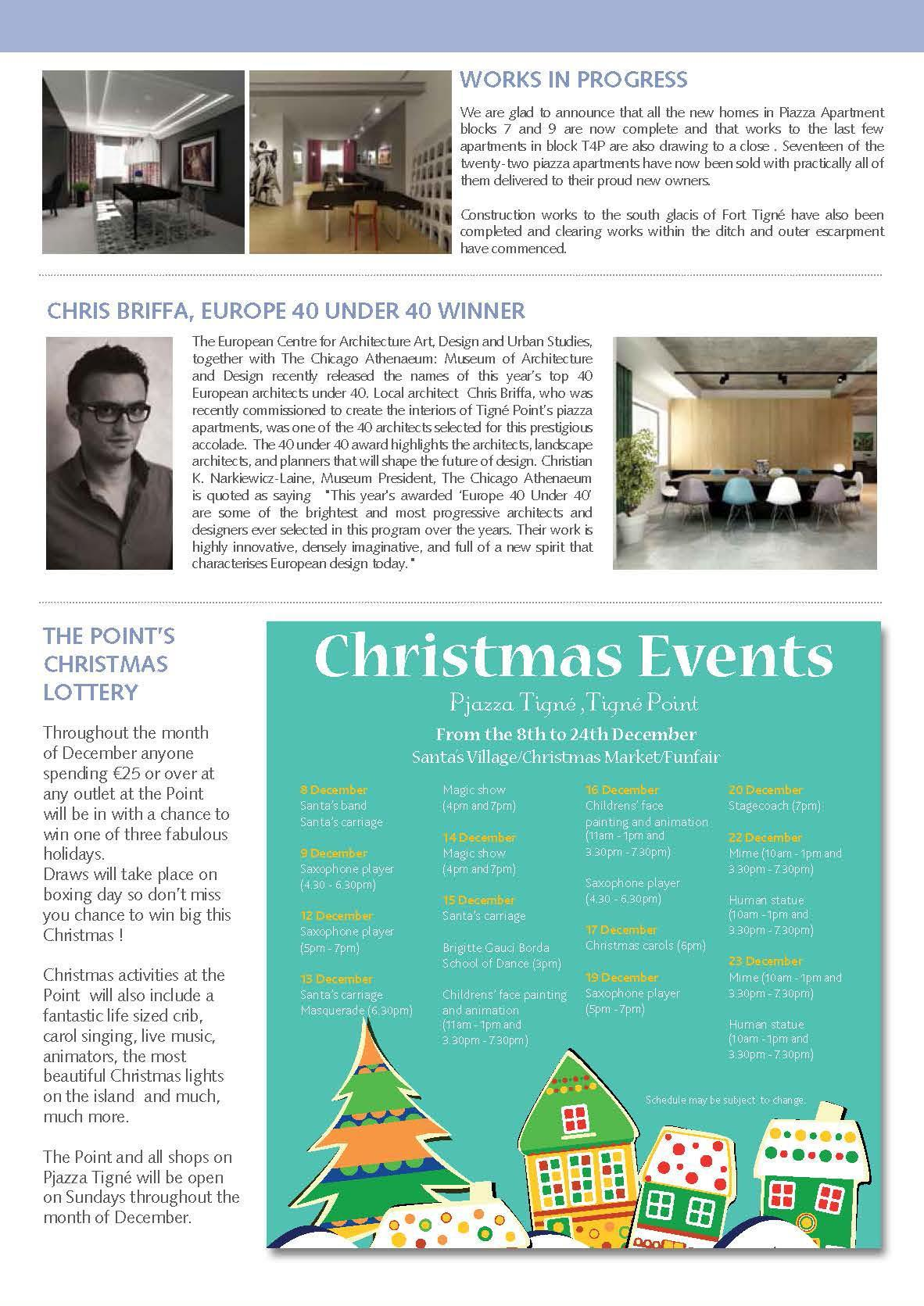 Tigné Point Newsletter December 2012